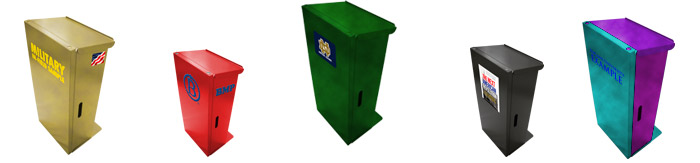 Sample portable lecterns.