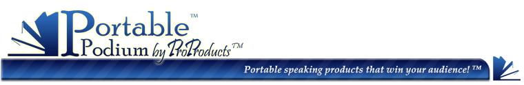 Portable Podium™ by ProProducts™ a Division of Berrien Metal Products, Inc.